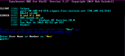 BPQ32   Telnet BBS Guide