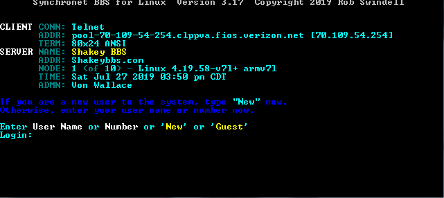 SSH | Telnet BBS Guide