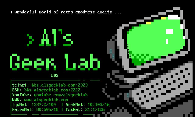 Al's Geek Lab Advert